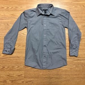 George Boys Small grey long Sleeve Button Down Top